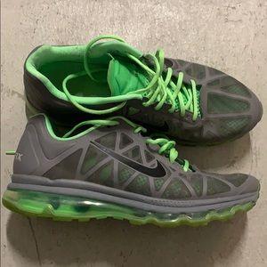 Nike air max grey and neon green